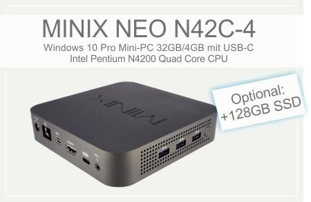 MINIX NEO N42C-4 Windows 10 Pro Mini PC 32GB / 4GB