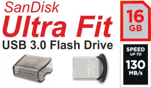 16GB Sandisk Ultra Fit USB 3.0 Flash Drive / USB-Stick